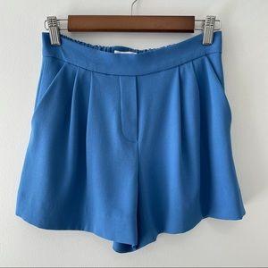 Aritzia Babaton Cohen Shorts Blue Terado Sz 2